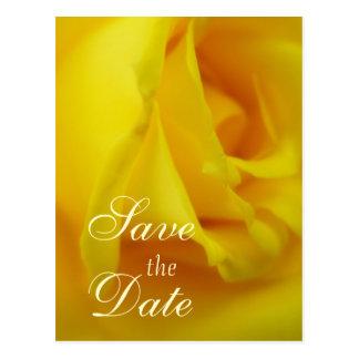Cartão Postal Casamento cor-de-rosa de incandescência do amarelo