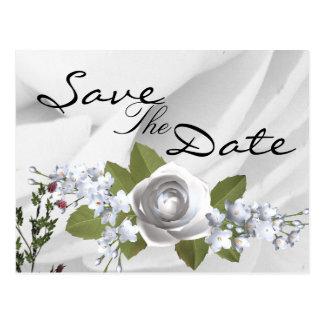 Cartão Postal Casamento preto e branco clássico