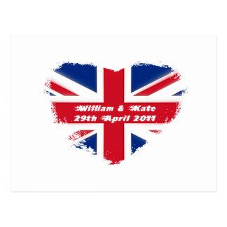 Cartão Postal Casamento real - Kate & William