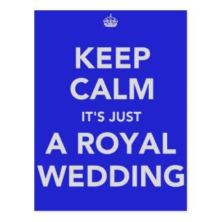Cartão Postal Casamento real - Kate & William - 29 de abril de