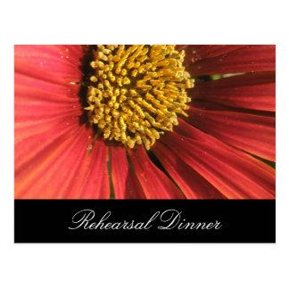 Cartão Postal Casamento vermelho rústico