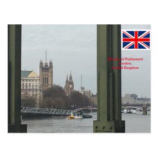Cartão Postal Casas do parlamento, Londres Reino Unido