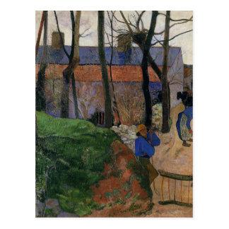 Cartão Postal Casas em le Pouldu por Paul Gauguin