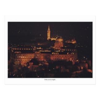 Cartão Postal Castelo de Buda na noite