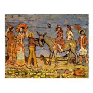 Cartão Postal Cavaleiro do asno por Maurice Prendergast