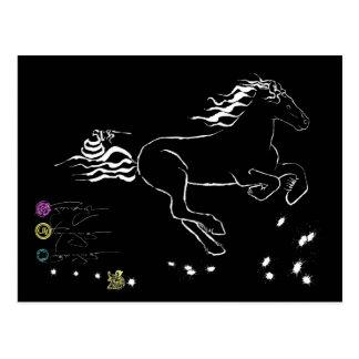 Cartão Postal Cavalo que galopa certo (WB) [cartão]