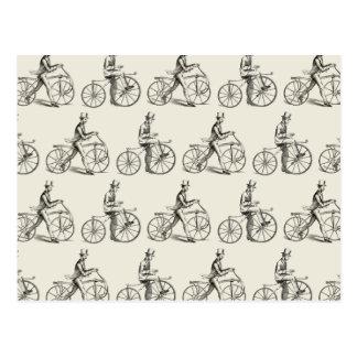 Cartão Postal Cavalos dândi (bicicletas do vintage)