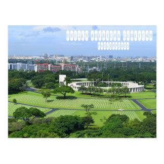 Cartão Postal Cemitério do americano de Manila