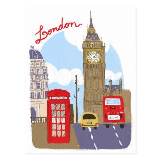 Cartão Postal Cena de Londres