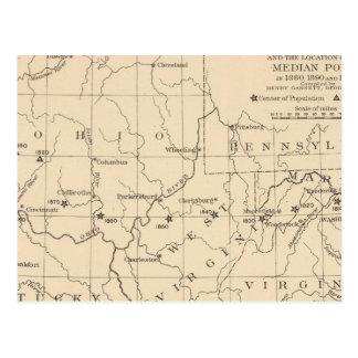 Cartão Postal Centro 16 de população 17901900