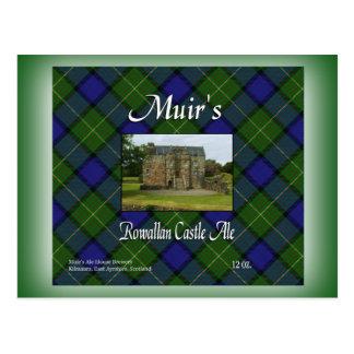 Cartão Postal Cerveja inglesa do castelo do Rowallan de Muir