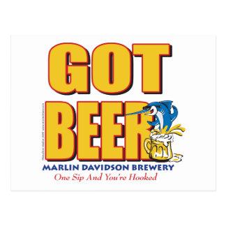 Cartão Postal Cervejaria de Davidsons do espadim - cerveja
