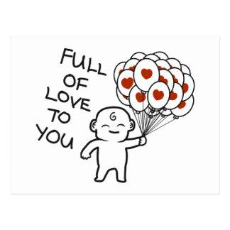 Cartão Postal Cheio do amor a você