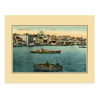Cartão Postal Chifre dourado Constantinople Ca 1900 do vintage
