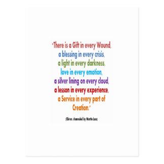 Cartão Postal CHIRON Chennel: As palavras da sabedoria MANTÊM-SE