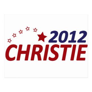 Cartão Postal Chris Christie 2012