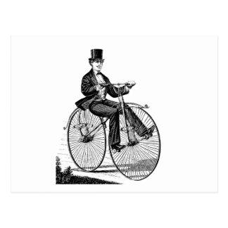 Cartão Postal Ciclismo do Victorian da bicicleta da roda grande