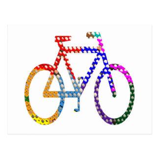 Cartão Postal Ciclo pintado ponto: Sua identidade do grupo
