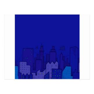 Cartão Postal Cidade abstrata da cidade do azul