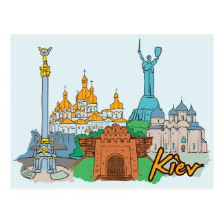 Cartão Postal Cidade famosa de Kiev, Ucrânia