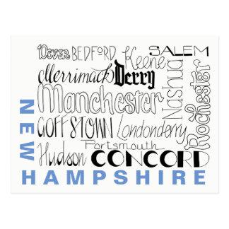 Cartão Postal Cidades em New Hampshire