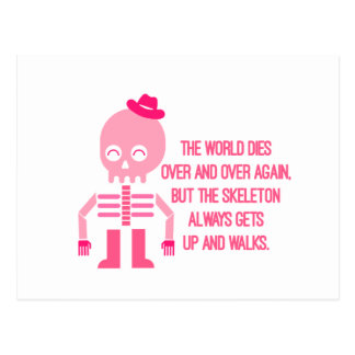 Cartão Postal Citações bonitos do esqueleto