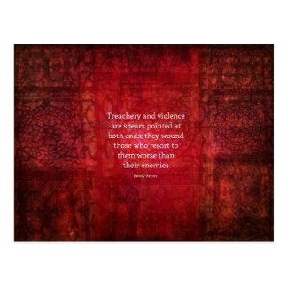 Cartão Postal Citações da SABEDORIA de Emily Bronte