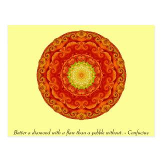 Cartão Postal Citações de Confucius -- sabedoria wearable