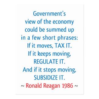 Cartão Postal Citações de Reagan