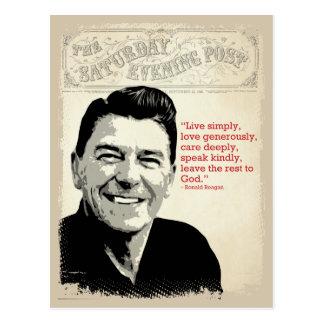 Cartão Postal Citações de Ronald Reagan