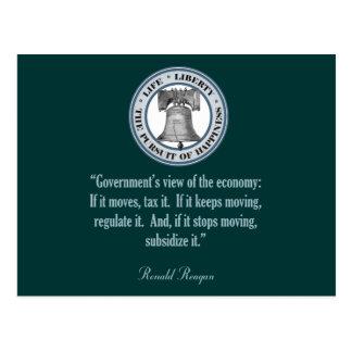 Cartão Postal Citações de Ronald Reagan (a opinião do governo)