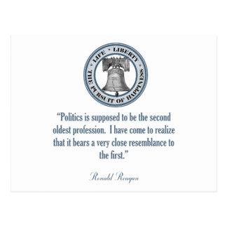 Cartão Postal Citações de Ronald Reagan (a profissão a mais