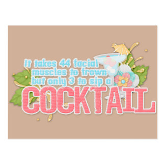 Cartão Postal Citações do cocktail