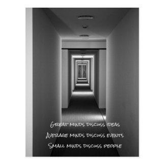 Cartão Postal Citações famosas: ideias, eventos, pessoas