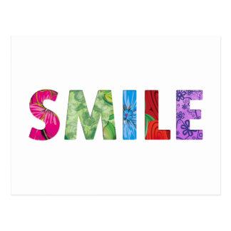 Cartão Postal Citações felizes 02 do sorriso