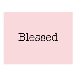 Cartão Postal Citações inspiradas abençoadas da fé do rosa das