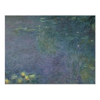 Cartão Postal Claude Monet   Waterlilies: Manhã, 1914-18