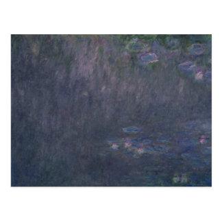 Cartão Postal Claude Monet   Waterlilies: Reflexões das árvores