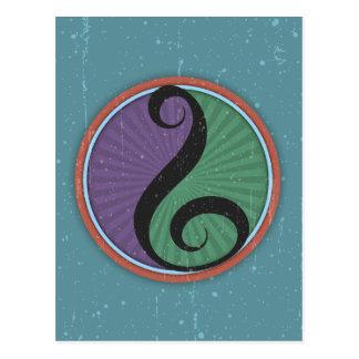 Cartão Postal Clef II da harmonia