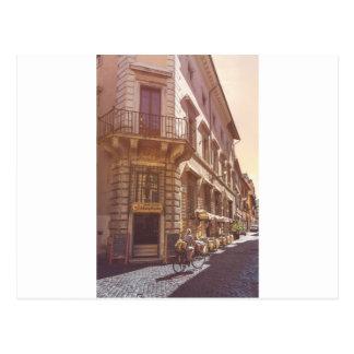 Cartão Postal Cobblestone italiano da bicicleta do getter do