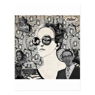 Cartão Postal Cobrir de Le Máquina de escrever Álbum