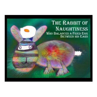 Cartão Postal Coelho do Naughtiness [cartão]