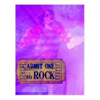 Cartão Postal Colagem de Digitas do anjo do rock and roll