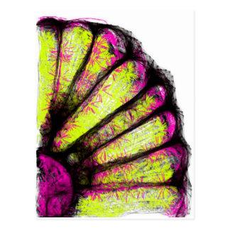 Cartão Postal Coleção cor-de-rosa & amarela da margarida de