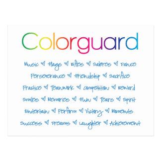Cartão Postal Colorguard