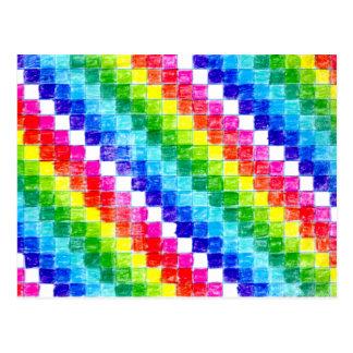 Cartão Postal Colorido em quadrados do papel de gráfico