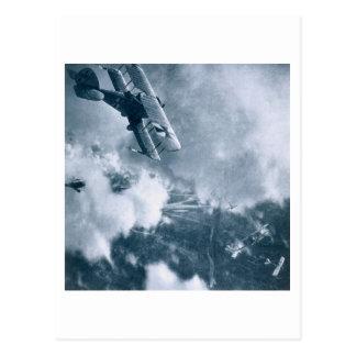 Cartão Postal Combate aéreo na parte dianteira ocidental,