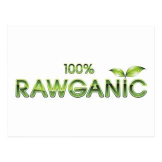 Cartão Postal Comida 100% crua de Rawganic