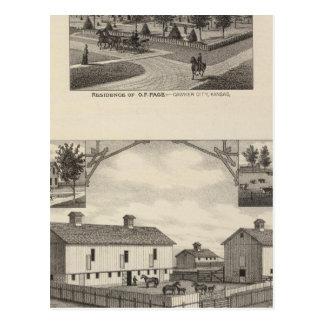 Cartão Postal Condado do estoque vivo de Kansas na cidade de