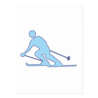 Cartão Postal Condutor de esqui condutor de puro skier